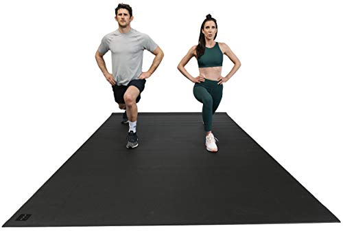 """Square36 Large Exercise Mat 12 Ft x 6 Ft x 7mm (144"""" x 72"""") Extra Thick Non Slip Workout Mats Exercise Fitness Equipment Mat. Designed For Use With Or Without Shoes. Ideal For Home Gym Flooring"""