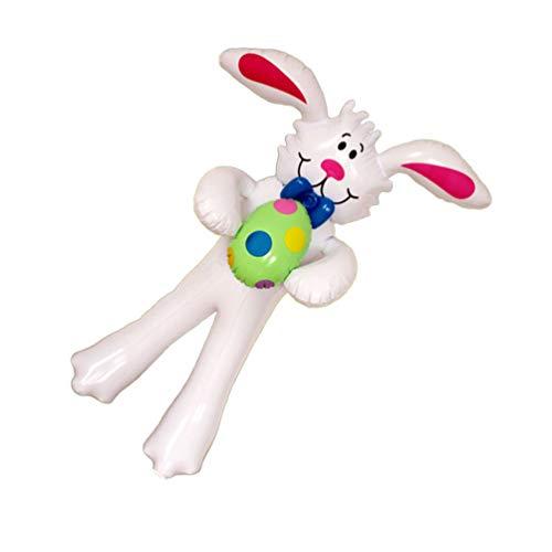 ABOOFAN Conejito Inflable de Pascua con Huevo Estatuilla de Conejo Inflable Juguetes Al Aire Libre Interior Vacaciones Patio Volar Decoración para El Hogar Decoración Exterior