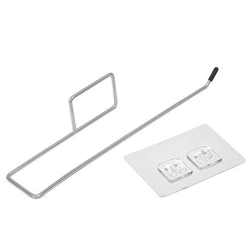 sympuk Soporte para rollo de cocina, soporte para toallas de papel, acero inoxidable, para cocina, baño, inodoro, 22 cm, color plateado