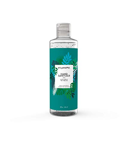 Wildersense Hand Sanitizer 62.5% Alcohol Gel (1 Pack x 8 Fl Oz / 236ml) | Natural Vegan Made with Aloe Vera and Tea Tree Based Infusion | Sanitizing Moisturizer Fast-Acting & Quick Absorption