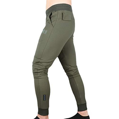 Lvguang Casual Style Gym Slim Fit Hose Jogger Hose Trainingshose mit Elastischer Taille (Grün, Asia M)