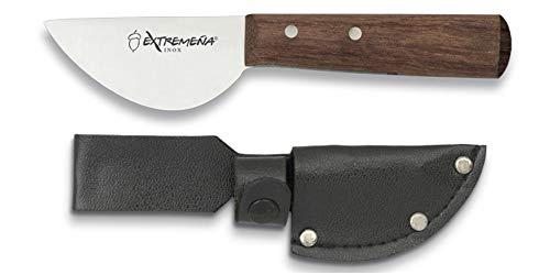 Extremeña Cuchilla Injerta, Acero INOX. h: 5 cm. con Funda