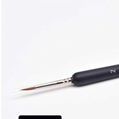 WOOAI Wolf Haarfarbe Pinsel Fein handbemalte Haken Linie Stift Runde Spitze Miniaturbürste zum Zeichnen Gouache Ölgemälde Pinsel, 2