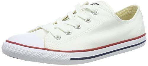 Converse Damen CTAS Dainty-ox-White-Women Fitnessschuhe, Weiß (Blanc/Rouge), 37.5 EU