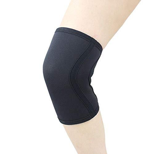 MUMUWU Se Pone en Cuclillas al Gimnasio de Entrenamiento Rodilleras Protector de la Rodilla de la rótula Deportes Seguridad 1pc 7 mm de compresión de Neopreno de Pesas (Color : Negro, Size : S)