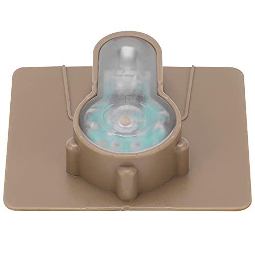 Wosune MOLLE Signalleuchte, Signalleuchte 5x1,3x4,4cm Militär Molle Jagdweste Licht für Outdoor-Ausrüstung für Outdoor-Aktivitäten(Schlammboden orange Lampe)