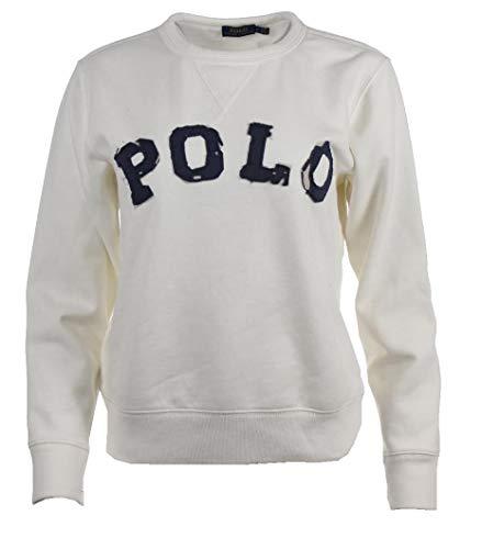 Ralph Lauren Damen Rundhals Pullover - Polo Beschriftung auf Frontseite (M)