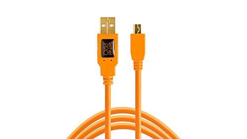 Tether Tools TetherPro Kabel, USB 2.0A auf MiniB 5Pin, USB-Kabel, 4,6m, orange [cu5451]