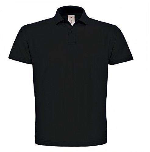 B&C: Piqué Polo Shirt ID.001 PUI10, Größe:2XL;Farbe:Black