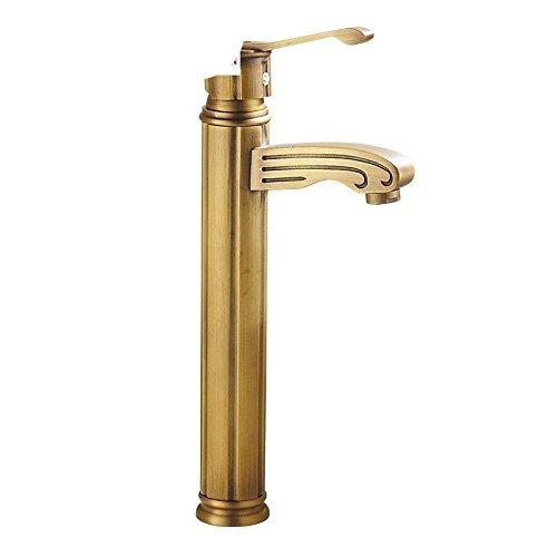 Grifo de cocina grifo lavabo baño con ajuste de calor y frío grifo completo del grifo de la cuenca del grifo de la grifería de cobre completo antiguo
