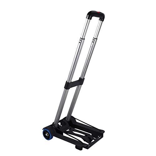 iplusmile Carro de mano plegable portátil plegable para compras, carrito plegable para...