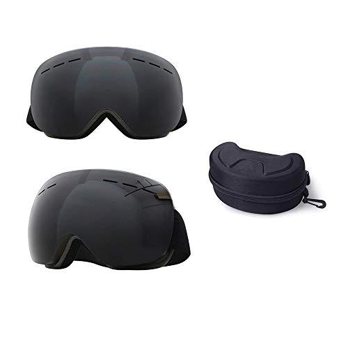 FGGTMO Gafas de esquí, Hombres Mujeres Capas Gran máscara de esquí UV400 Gafas de protección, for Esquiar en Invierno la Nieve Snowboard Gafas (Color : Gray)