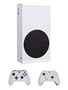 Dynas Xbox Series S Wall Mount & Controller Bracket Set - Keeps Xbox Box Secure, Safe, Cool & Hidden, Wall or VESA Compatible Fixtures & Fittings Included (White)