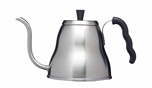 Kitchencraft 'Le' Xpress acero inoxidable Pour-Over café hervidor de agua con caño largo, plata, 700 ml