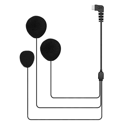 USB Tipo C Auricular/Micrófono para BT-S2 y BT-S3 Intercomunicador Casco Moto (USB C, Micrófono Suave)