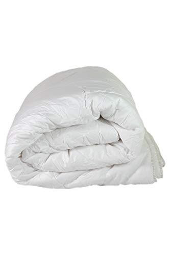 Espritzen - Couette 4 Saisons 240x220 cm composée de 2 épaisseurs détachables - Blanc