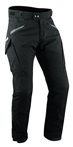 A-pro Pantalon Textile Thermique Moto Hiver Impermeable étanche Taille Spécial noir 28