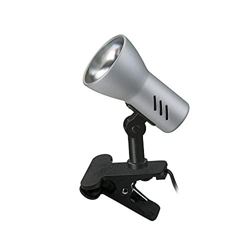 Briloner Leuchten - Klemmleuchte dreh- und schwenkbar, Klemmlampe mit Schnurschalter, Titanfarbig, 40W