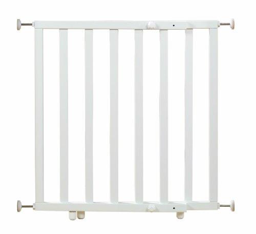 roba Türschutzgitter zum Klemmen, Schutzgitter weiß lackiert mit variabler Breite 62-106 cm, Tür- und Treppengitter für Kinder und Haustiere