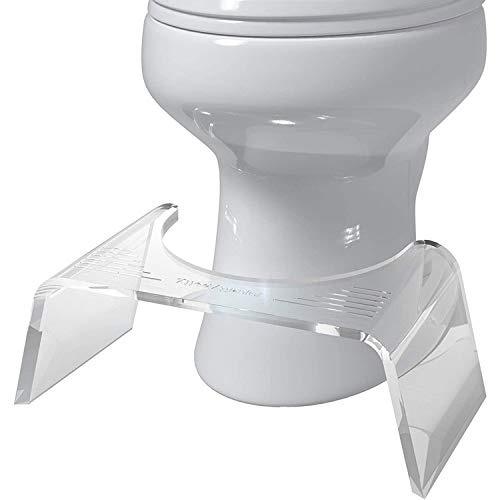Squatty Potty Slim Ghost - Sgabello per WC in acrilico