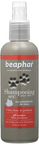 Beaphar Premium droogshampoo met natuurlijke extracten van bamboe en rozenwater voor katten, 200 ml, 2 stuks