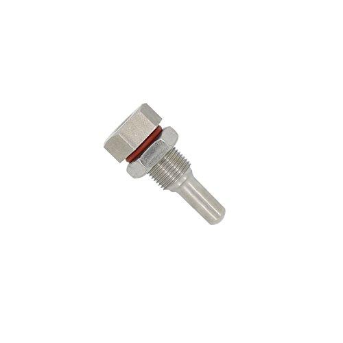 Edelstahl tauchhülse edelstahl 304 m12x1 für temperaturfühler thermostat thermometer Kessel Thermoelement Eintauchen von 35 50 100 150 200 300 400 500mm (35mm)