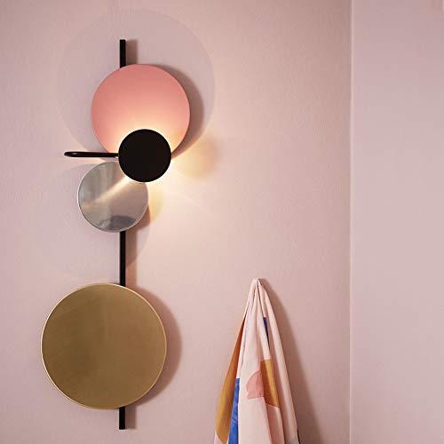 Applique Salle à manger Étude Salon Chambre Escalier Balcon Bleu Vert Rose Lumière Moderne Simple Europe du Nord Planète (Color : Rose)