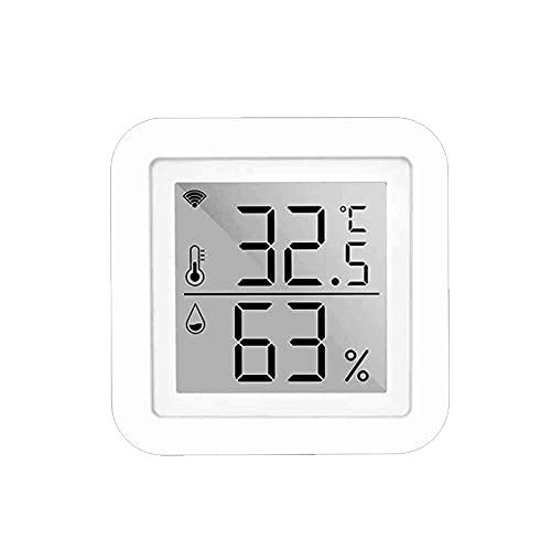 Romellar Higrómetro digital para interiores, mini termómetro de habitación, medidor de humedad con pantalla LCD, compatible con Alexa Google Home para casa, oficina, guardería