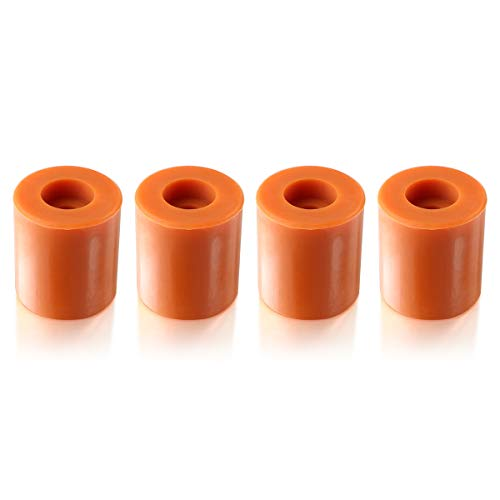 Toaiot 3D Printer Heat Bed Silicone Leveling Solid Bed Mounts Column OD18mm/0.71 inch ID 0.16 inch Stable Hot Bed Tool Heat-Resistant Silicone Buffer for Ender 5/Pro Anet A8 Wanhao D9 Mega-4pcs Brown
