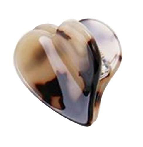 Plus Nao(プラスナオ) ハートヘアクリップ バンスクリップ クリップ ハート ハート形 可愛い ハンドメイド風 ヘアアクセサリー 透かしマー - 5882