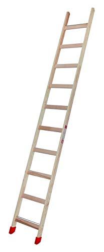 Escalera de peldaños de madera, 10 peldaños