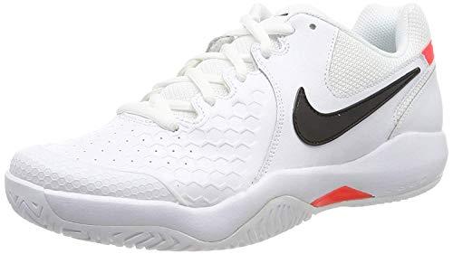 Nike Herren Air Zoom Resistance Tennisschuhe, White Black Bright Crimson, 42.5 EU