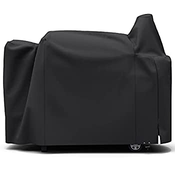Upgraded Pellet Grill Cover for Pit Boss 820 Series Pro Series 850 Special Zipper Design Easy to Put On and Take Off Durable & Waterproof Black