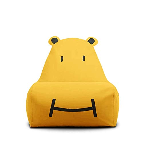 Lazy Sofa Children's Small Sofa Tatami Bean Bag Cute Single Fabric Chair Cartoon Three-dimensional Shape Chair Removable Washable 75times;60times;65cm (Color : Orange) dongdong ( Color : Yellow )