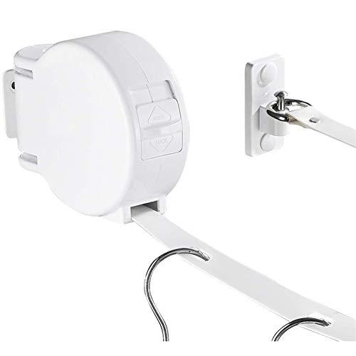 ZHANGJIAN Easy to Store Tendedero retráctil, Correa Perforada Antideslizante Ajustable, girada por 180 Grados, Secadora de Ropa Exterior/de Interior Save Space (Color : White)