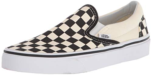 Vans Unisex Adults' Classic Slip On, Black/Off White Check, 4.5 US