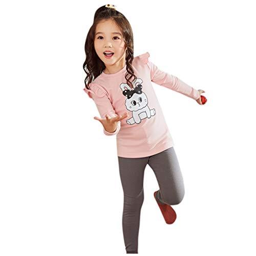 sunnymi® Vêtements pour Bébé Toddler Bébés Garçons Filles Ruffle Rabbit Tops + Pantalons Pyjamas Tenues De Nuit Combinaison lâche de Dessin Animé Le Costume de bébé Rampant est Sale