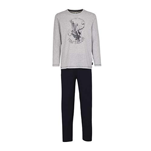 TOM TAILOR Herren Pyjama grau Melange 1er Pack 50