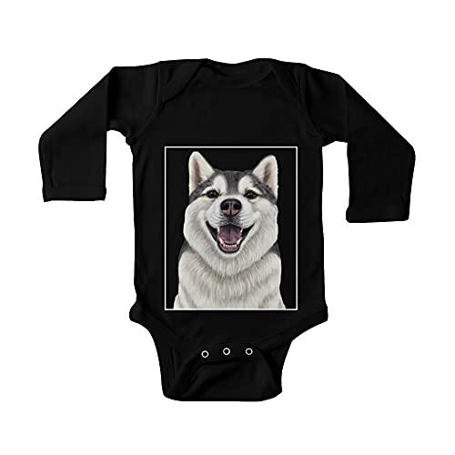 Husky siberiano - Up Close Dog Baby de una pieza