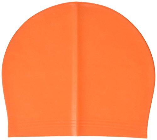 Beco Unisex látex Gorro de natación, Verano, Unisex, Color Naranja, tamaño Talla única