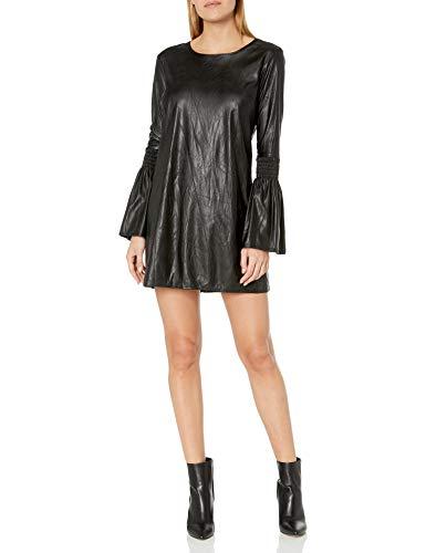 BCBGeneration Damen Long Sleeve Smocked Shift Dress Kleid, schwarz, X-Klein