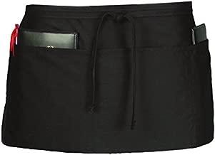 Ritz CL3PWACBK 4 Pocket Waist Serving Apron, Black, 1 Pack, One Size