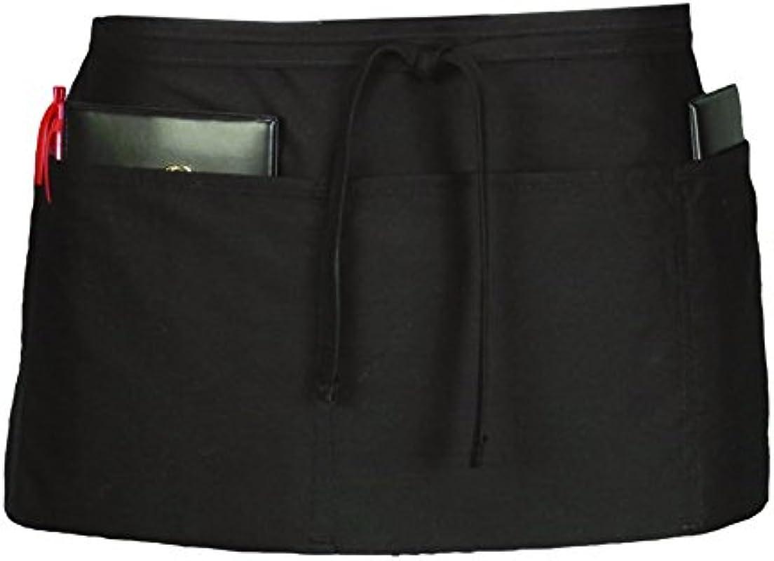 Ritz CL3PWACBK 4 Pocket Waist Serving Apron Black 1 Pack One Size
