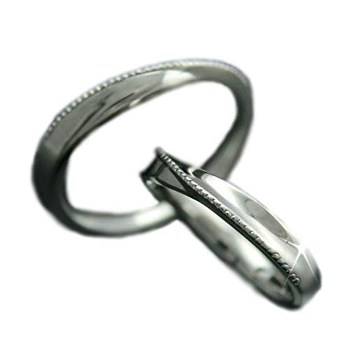 [ココカル]cococaru ペアリング 2本セット K10 ホワイトゴールド 結婚指輪 日本製 (レディースサイズ2号 メンズサイズ19号)