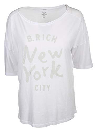 Better Rich Damen T-Shirt Rundhals New York in Weiß Größe L