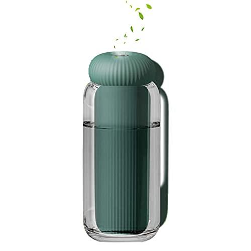 Qoeucme Mini Umidificatore USB,Mini Humidifier per Ufficio Auto Desk Baby 300ml Umidificatore Ambiente Aroma diffusore di Spegnimento Intelligente Air Humidifier Super Silenzioso