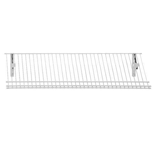 ClosetMaid 2846 ShelfTrack Ventilated Wire Shoe Shelf Kit, 3-Foot, White