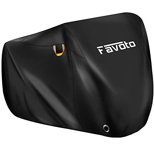 Favoto Telo Copribici per 2-3 Bicicletta Custodia Bici in Poliestere 190T, Copertura da Esterno per Biciclette/Scooter/Motorino, Resistente a Polveri/Pioggia/Neve/UV, con 2 Maniglie
