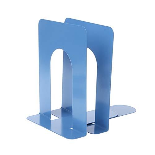 Simple Style Sookends Metal Soporte de hierro Soporte Nokid Skets Soportes para libros (Color : 9A10650 BL)