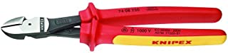 KNIPEX Tools - High Leverage Diagonal Cutters, 1000V Insulated (7408250SBA)